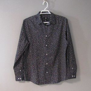 NWT H&M Abstract Print Long Sleeve Shirt Size XL
